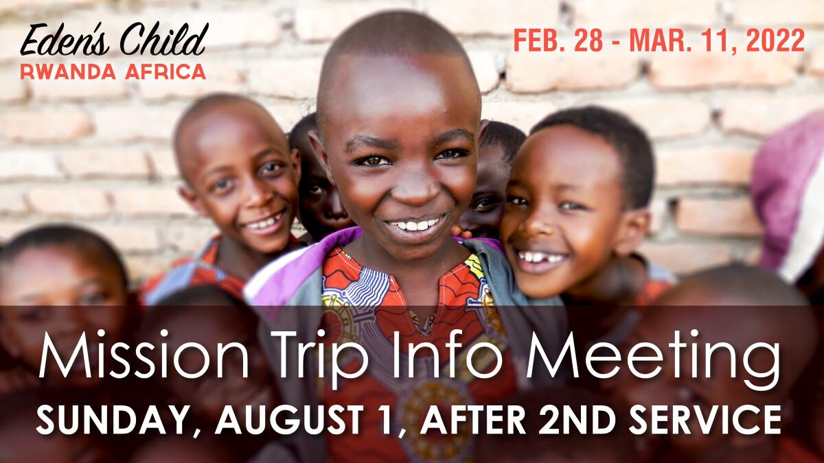 Mission Trip Info Meeting